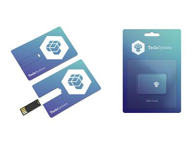 USB / Gift Card — Tecla System dynamic identity dynamic logo generative identity gift card gift cards usb logo design identitydesign identity design identity branding identity branding design branding brand identity brand design brand