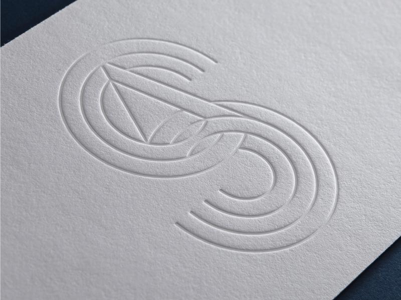 SA monogram letterpress