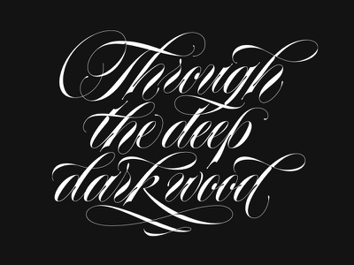 Ttddw copperplate type calligraphy lettering