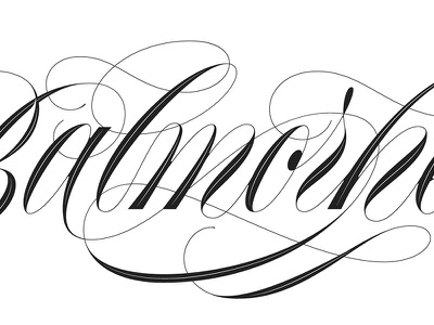 Balmorhea script copperplate type calligraphy lettering