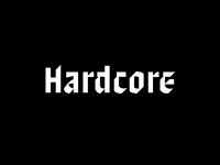 Hardcore font