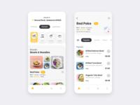 Food Delivery Mobile App delivery app restaurant app mobile app food app food delivery food order ios app app design app clean ui ui