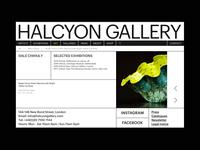 Art Gallery website artgallery art design ui minimalism interace clean ui web typogaphy layout website