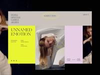 Photographer portfolio serif simple minimal models portfolio photography main page website clean ui design typography web interace ui