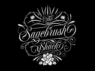 The Sagebrush Shack identity iconography vector logo design brand identity typography brand design flowers succulents gardening concept illustration logo