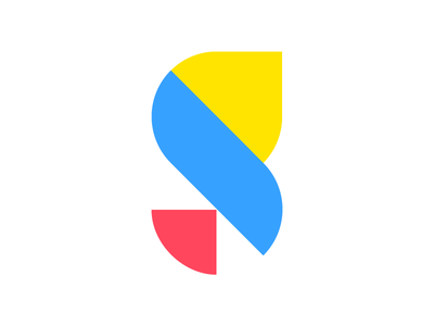 SG Monogram typeface modern clean font illustration abstract logo