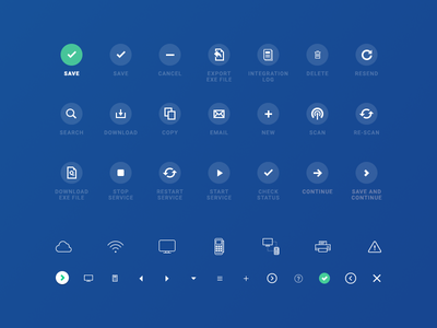 System Command Iconography line actions illustration iconography icon