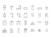 Water Fixture Icons
