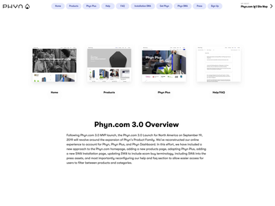Phyn.com 3.0 Website video photography product design language system ui ux user experience design ecommerce design web design