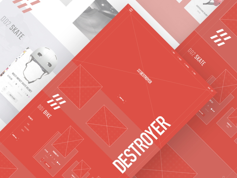 Destroyer Wireframes by Jordan Hebner for Canvas on Dribbble
