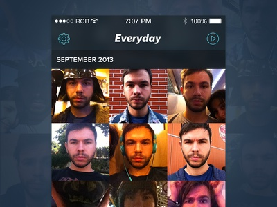 Everyday for iOS7 everyday ios7 app iphone ui photo pic face mosaic mobile redesign