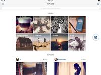 Instagram ipad explore