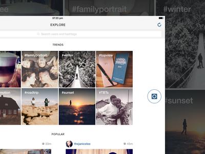 Explore - Instagram iPad app