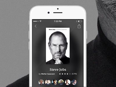 Glose Book Screen iphone 6 read ios8 app book ui glose steve jobs apple
