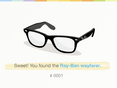 Ray-ban wayfarer ray-ban glasses gowalla object illustration