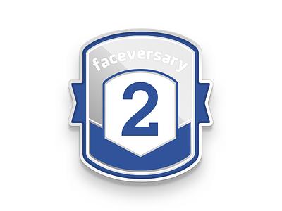 2 Years at Facebook badge pin faceversary facebook