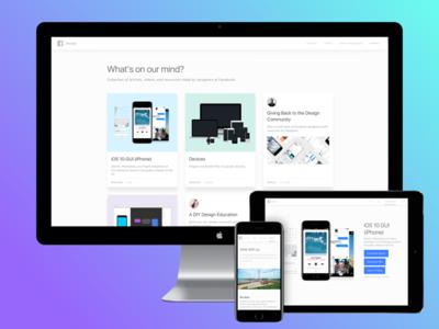 Facebook Design iphone ios web origami website tools gui videos articles resources facebook design