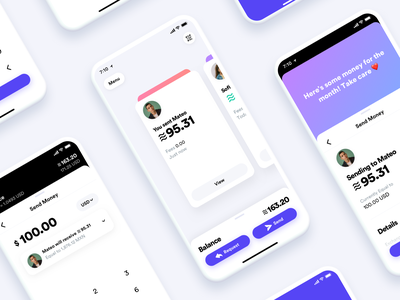 Calibra App blockchain libra calibra crypto ios finance wallet cryptocurrency design ui iphone app