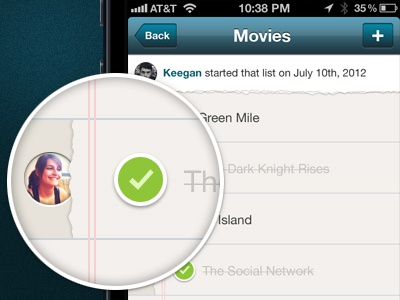 Pair Redesign - To Do List app ui iphone pair todo list check movies