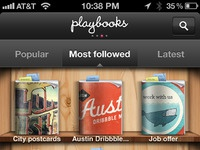 Playbooks mostfollowed