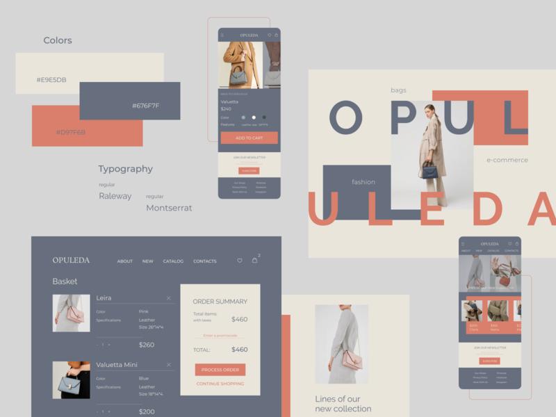 E-Commerce Bags Store mobile desktop fashion brand fashion bags e-commerce design e-commerce