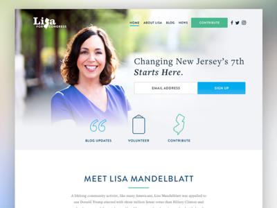 Lisa Mandelblatt for Congress political new jersey politics ui interactive design web design