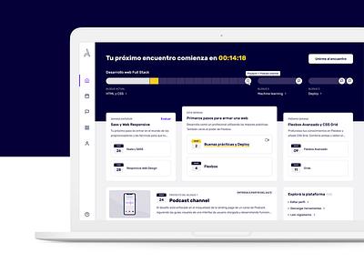 Acámica - Educational Online Platform design desktop ui design remote edtech product design dashboard educational