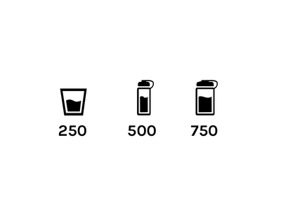 Water Icons measure units icons water