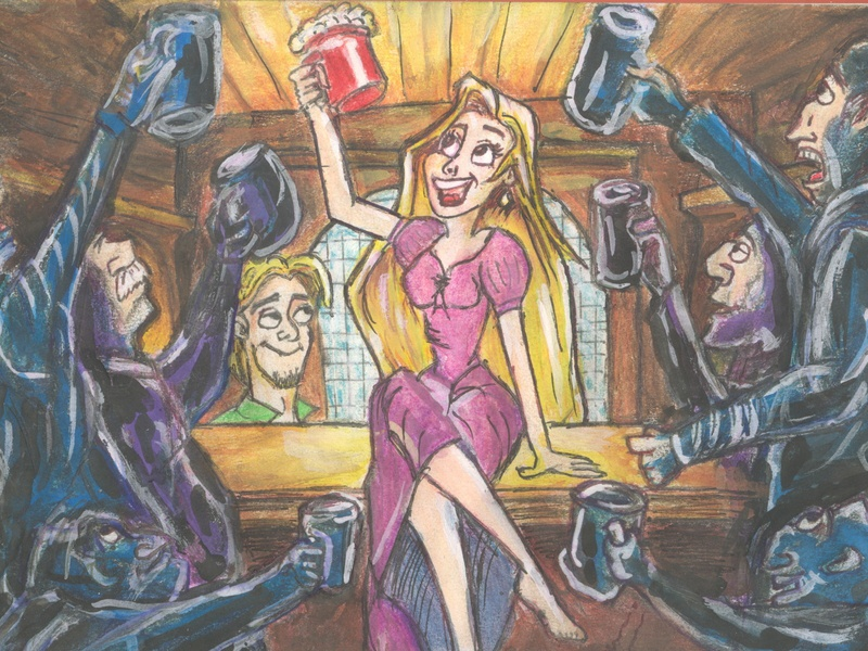 Rapunzel 2 design illustration animation raponzel