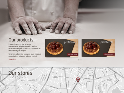 Dolcezza - product section - homepage display dolcezza landing page product module bakery italian pasticceria