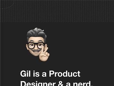 Gilbertolenzi.com - portfolio redesign product design product design portfolio porfolio