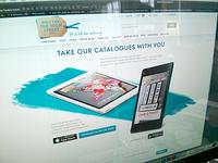 Notonthehighstreet.com - tablet App Landing Page