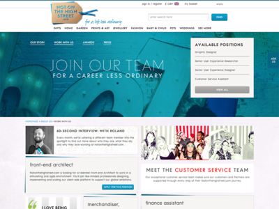 notonthehighstreet.com – work with us marketing ui ecommerce notonthehighstreet career work with us