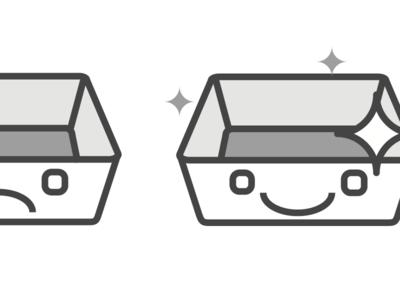 happy basket :) ecommerce illustration icon hackday backet icon basket