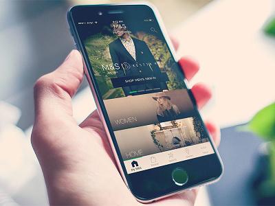 New M&S Homescreen UI – iOS app home app ecommerce retail homescreen ios