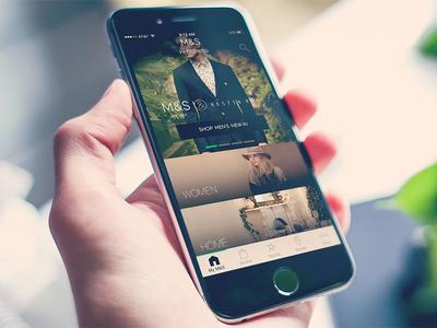 New M&S Homescreen UI – iOS app