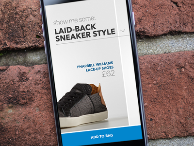 4 / Shoes retail app - browsing by style