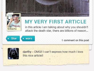 Blog Post post wordpress article polaroid paper star wars starwars blogpost blog post