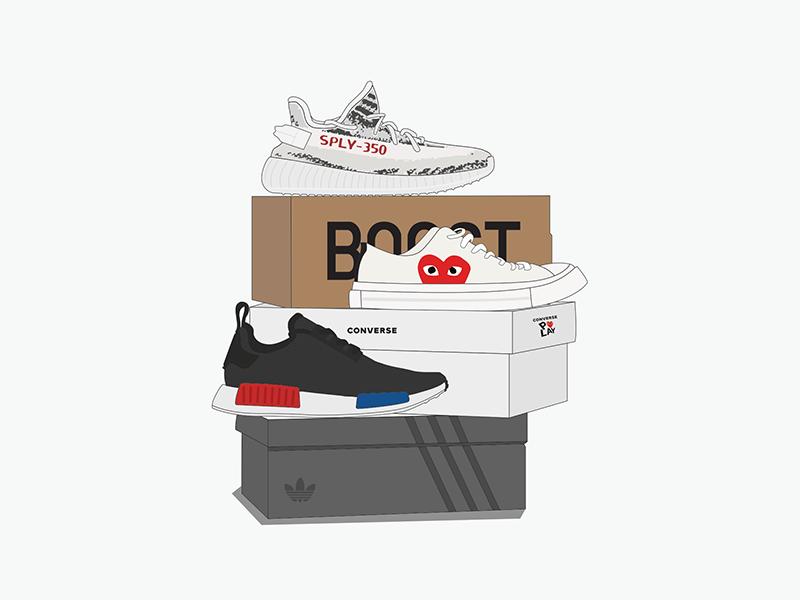 AL x BSB zebra nmd sneaker illustration illustration boost converse yeezy adidas sneakers