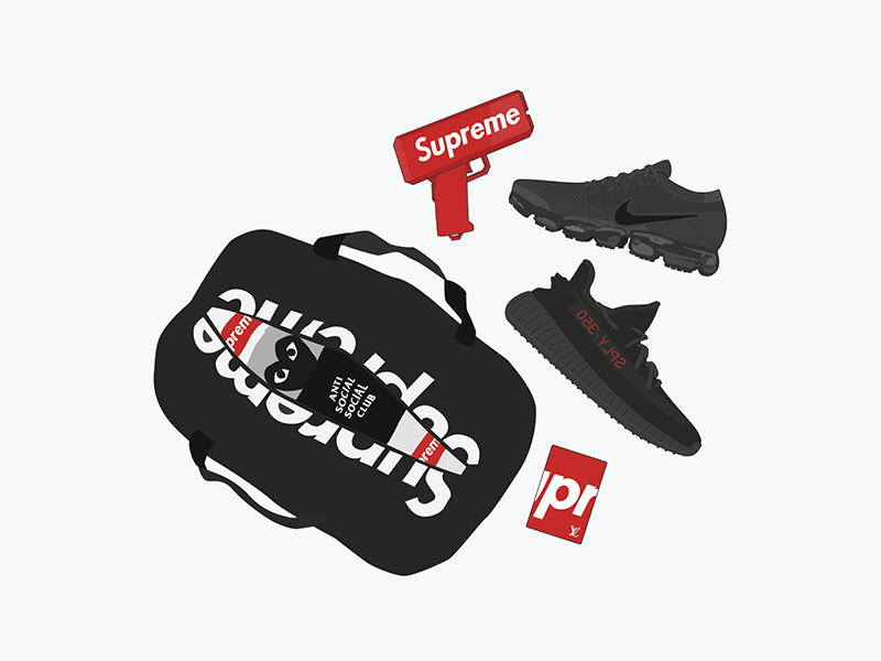 AL x BSB sneaker vector sneaker illustration illustration apparel cdg assc sneakers nike boost yeezy hypebeast supreme
