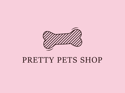 Pretty Pets Shop dog animal pet pets illustration icon vector logo design branding