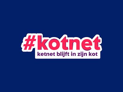 Logo #kotnet vrt ketnet belgium children tv logo vector illustration design branding