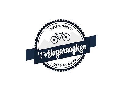 Logo 't Vélogaraagken belgium local shop bike vector logo illustration design branding