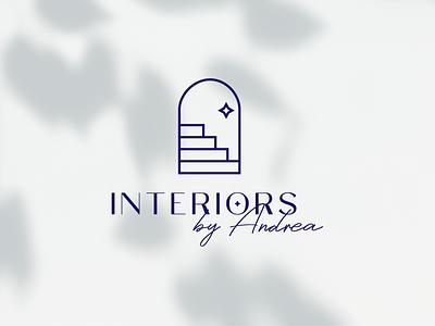 Logo for interior designer interior branding modern sophisticated feminine designer blog lifestyle soft architecture interior design minimal logo
