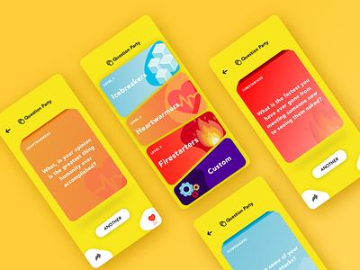 Quiz app concept interface quiz app modern game design user experience question app playful quiz ui