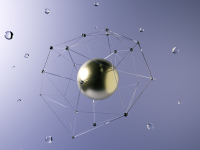 Wired sphere with Blender 3D blue scene illustration abstract globe metal cycles lighting rendering blender glass wired 3d