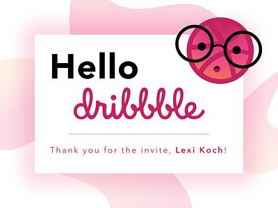 Hello Dribbble, I'm Dóra! thankyou hello debut welcome graphics design ui