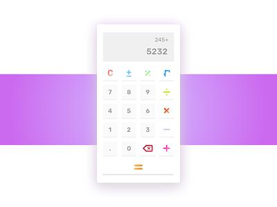 Calculator colorful ui calculator dailyui