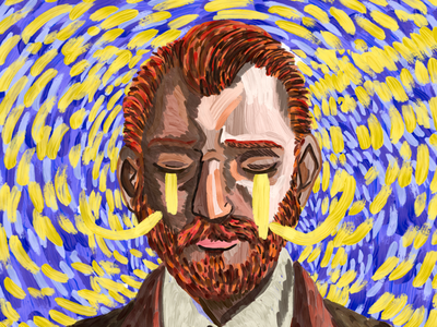 Vincent Van Gogh digital art painting digital painting adobe sketch adobe photoshop sketch adobe photoshop illustration drawing