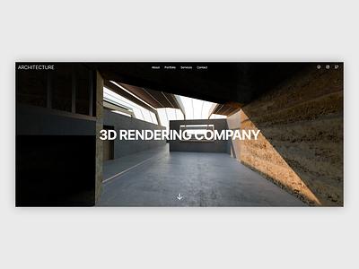 ARCHITECTURE | Website, UI/UX ui landing page 3d architecture web ux